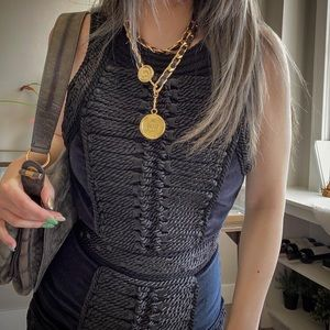 BALMAIN × H&M black Velvet dress